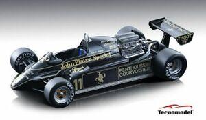 1:18 scale Tecnomodel Mythos JPS Lotus 91 F1 Car Elio De Angelis Monaco GP 1982