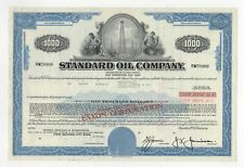 Standard Oil Company Bond w/ Oil Rig Vignette