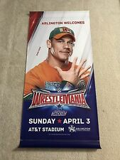 John Cena Street Banner of WWE Wrestlemania 32 Arlington Texas AT&T Stadium