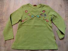PAMPOLINA schönes Shirt Blumenstickerei grün Gr. 98 TOP  ST817