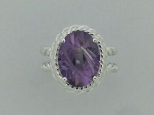 Natural Amethyst Ring in Solid 925 Sterling Silver