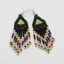 Native American Beadwork Navajo Beaded Earrings by Charlene Jackson