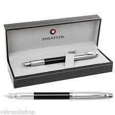 Superb Sheaffer 100 Black / Chrome Fountain Pen in Luxury Box (E0931353)