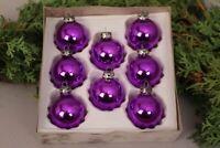Christbaumschmuck 5 cm Kugeln Glas lila glänzend Set Anhänger Deko Weihnachten