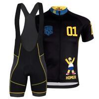 SIMPSONS Team Novelty Cycling Jersey Bib Short Cap Set