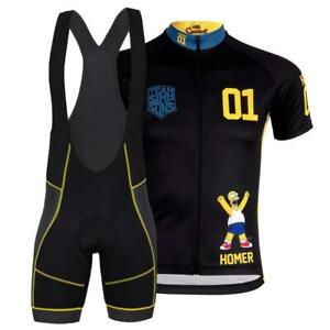 SIMPSONS Team Novelty Cycling Jersey Bib Short Cap Set