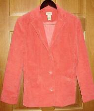 LL Bean Womens Blazer Size 10 Reg Strawberry Pink Lined Corduroy A45