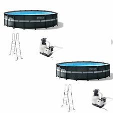 Intex 18ft x 52in Ultra Xtr Round Frame Above Ground Pool Set with Pump (2 Pack)