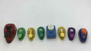 New ListingLot of 8 Ek Success Paper Punch Decorative Punches. Flowers, Star, Leaf & More