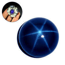 Natural Blue Star Sapphire 5mm/6mm Round Cabochon Loose stone 6 Rays Gemstones