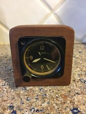 Longines Wittnauer 7 Jewel Cal 63 A-11 Aircraft Clock Glow Dial And Hands