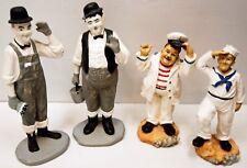 Laurel & Hardy - 2 paires de personnages - figurines en plâtre / résine