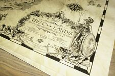 C++17 Lands CPP World Ancient Old Vintage Style Map Print Poster 36x24 Gloss