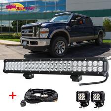 """2x Cube Pods + 24"""" Led Work Light Bar + Wiring Bumper Fog Driving Ford Ranger"""