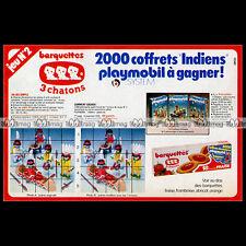 PLAYMOBIL & Barquettes 3 CHATONS 'Les Indiens' 1978 - Pub / Publicité / Ad #B529
