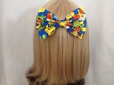 Pokemon hair bow clip rockabilly pin up girl retro vintage large geek pikachu