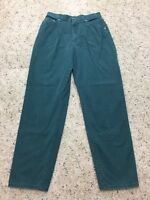 Vintage Lee Mom High Waist 100% Cotton Tapered Leg Jeans Size 14L Long W28 x L30