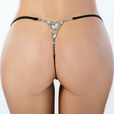 Women Sexy Crystal Lingerie T-back Briefs Panties Thongs G-string Underwear