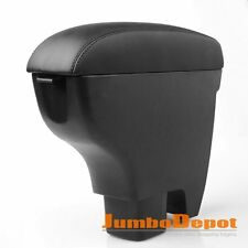 US Black Leather Armrest Center Console Box Fit Suzuki Swift 2007 2008 2009 2010