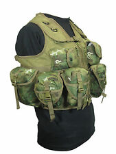 9 Pocket Arid Woodland Camo Tactical Vest Rig Army Military Ammo Utility Pouch