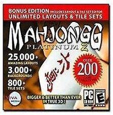 Mahjongg Platinum 2, Very Good Windows XP, Windows 2000, Window Video Games