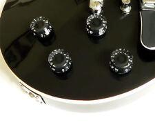 Nero Velocità Manopola set per Gibson Les Paul LP Chitarra Manopole Adatta 6mm Scanalato Pot