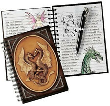 Twin Dragon's Book of Mystical Musings Ruled Spiral Journal Diary Notebook