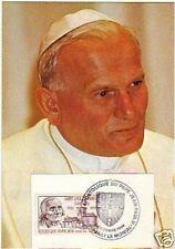 18+CARTE VISITE  DU PAPE JEAN PAUL II  EN FRANCE PARAY