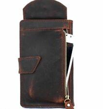 Genuine Leather Case for Google Pixel / XL Book Wallet Cards Cover Brown Vintage