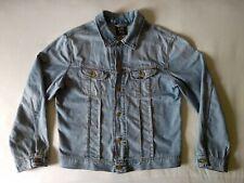 LEE SLIM RIDER DENIM TRUCKER JACKET XL Vintage Western Cowboy Faded Distressed