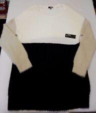 Women's Plus a.n.a. Sweater Dress White Beige Black Sz 2X NEW  Super Soft