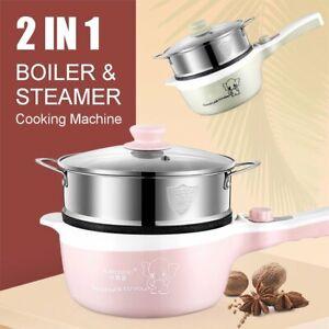 600W Electric Hot Pot Slow Cooker Boiler Automatic Steamer Kitchen Tools  li A5