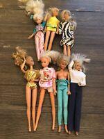1980s Barbie Doll Lot Of 7 Dolls (Lot 5)