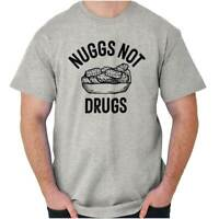 Nuggs Not Drugs Chicken Nuggets Stoner Gift Short Sleeve T-Shirt Tees Tshirts