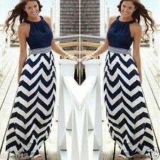 Women's Summer Boho Sleeveless Long Maxi Evening Party Beach Short Sundress Regular L B#