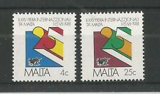MALTA 1981 TRADE FAIR SG,661-662 UM/M NH LOT 2297A