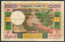 DJIBOUTI trésor public - 1000 FRANCS Pick n° 28 de 1952 non daté en TTB Z.87 068