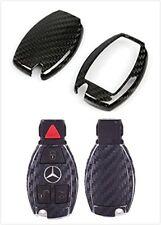 Carbon Fiber Remote Smart Key Shell Frame Case Holder Cover For Mercedes Benz