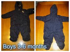 Boys Warm Carters 3-6 months Snowsuit  Blue