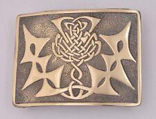 Scottish Kilt Belt Buckle Thistle Knot Work Antique Finish/Thistle Emblem Buckle