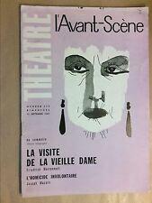 L'AVANT SCENE N° 249 / LA VISITE DE LA VIEILLE DAME / DURRENMATT / BON ETAT