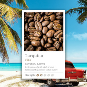 Cuba Turquino Coffee Beans. Reminiscent of the character of Cuban cigars.