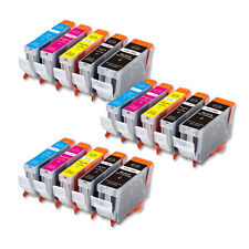 15 Replacement Printer Ink Set for Canon PGI-5BK CLI-8 iP4300 MP830 iP5200 MP500