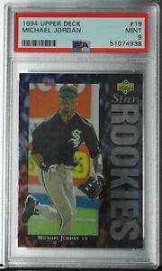 MICHAEL JORDAN (PSA 9) 1994 Upper Deck Rookie RC Card #19