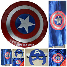Captain America Civil War Kids Shield Cape & Mask Set Superhero Avengers Costume