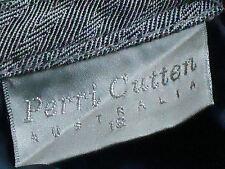 PERRI CUTTEN GreyGreenHerringboneStripeLtWt35%WoolMix Size12