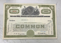 New York, Chicago and St. Louis Railroad Company 100 Share Stock Certificate