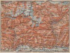 VAL MASINO/BREGAGLIA ALPS. Disgrazia Caspoggio Tellina Malenco Sondrio 1922 map