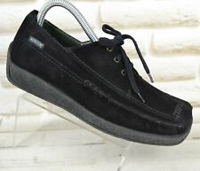 MEPHISTO AIR-RELAX Womens Black Suede Comfort Casual Shoes Size 5.5 UK 38.5 EU