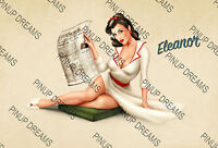 """Pin-Up Art """"Eleanor"""" - Vintage Retro Cult Pinup Model Poster re-print A4, A3,A3+"""